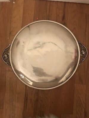 Vintage Sterling Silver Georg Jensen Style Blossom Serving Tray 114.