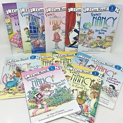 MIXED LOT 6 Fancy Nancy books Learn to I Can Read Level Reader SHIPS FREE