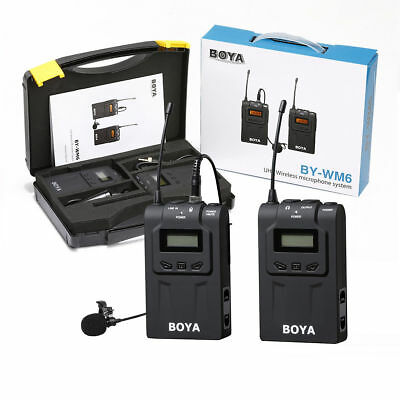 BOYA BY-WM6 UHF Wireless Mic Microphone System Lavalier for ENG EFP DSLR Camera