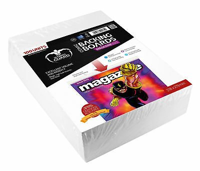 Magazine Size Comic Backing Boards High Bulk Boards White 218 x 279mm Acid Free