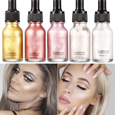 5 Colors Highlighter Liquid Shimmer Contour Brightener Beauty Makeup Cosmetic