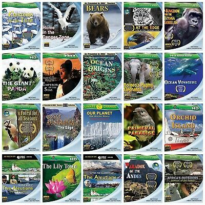 20 HD BLURAY LOT Bears,Panda,Ocean,Forest,Africa NATURE/ANIMAL PLANET/DISCOVERY