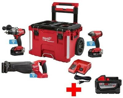 Milwaukee M18 FUEL with ONE-KEY 18-Volt Lithium-Ion Brushless Cordless Combo w/