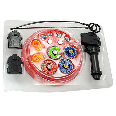 Seltene Beyblade 4D Metal Master Fusion Top Rapidity Arena mit Launcher Fury Set