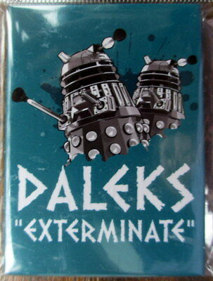 Daleks Exterminate Fridge Magnet Doctor Who BBC