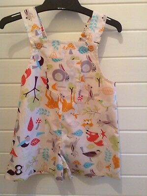 Shorts/ overalls Size 1-2 approx Woodland animals Boy OR Girl Handmade
