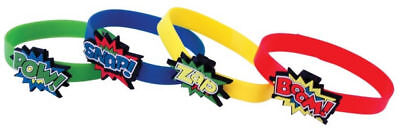 12 Super Hero Bracelets - Pinata Toy Loot/Party Bag Fillers Wedding/Kids