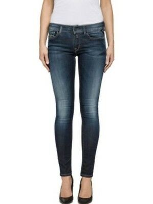 REPLAY JEANS DONNA LUZ - ADERENTE - Blu - DENIM BLU