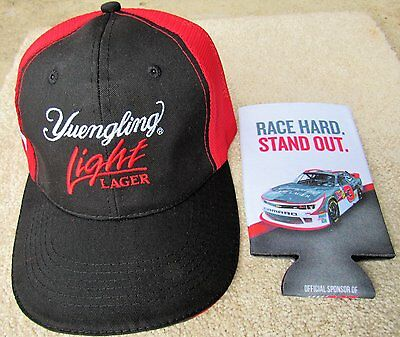 Ty Dillon #3 Yuengling Light Lager Beer Mesh Racing Brewery Hat & Coozie NEW
