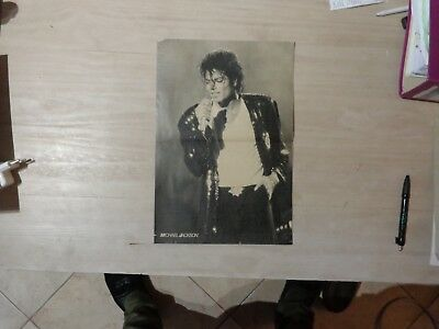 1980,s Michael Jackson double poster  - side two Sting the Police 40cm on 30 cm