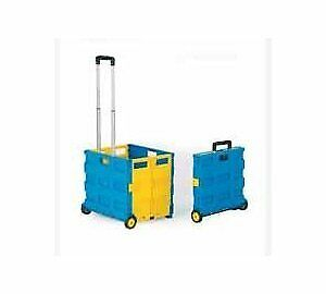 GPC Large Folding Box Truck GI041Y - Blue and Yellow, Pack of 1