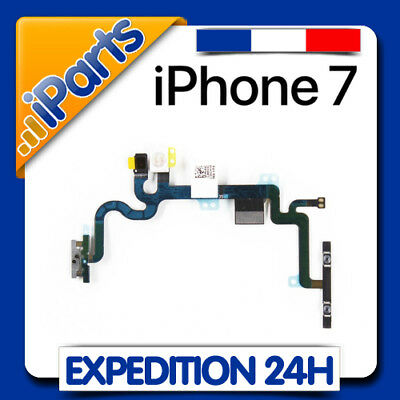 Nappe Bouton Power On / Off + Volume + Vibreur + Micro + Flash - Iphone 7