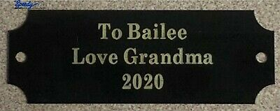 """Engraved Brass Plate Picture Frame Label Taxidermy 7/8""""x2 1/2"""" FREE Engraving"""