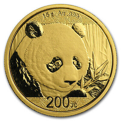 2018 China 15 gram Gold Panda BU (Sealed) - SKU#152621