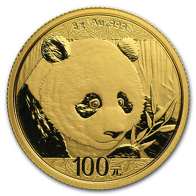 2018 China 8 gram Gold Panda BU (Sealed) - SKU#152622