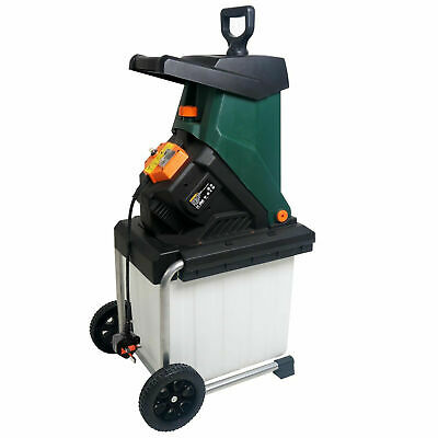Heavy Duty Garden Shredder 40mm Cutting Width Electric 2500 W 4050 RPM Blade New