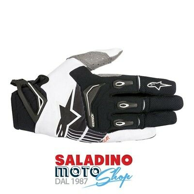 Guanti Cross Alpinestars Techstar Gloves Nero Bianco 3561018