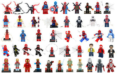 Building Toys Iron Man Super Heroes Spider-Man Minifigure Rare Peter Parker