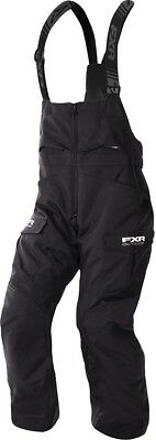 FXR Excursion Mens Snow Bibs Black