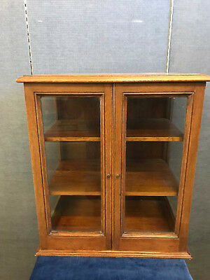 Edwardian shop display cabinet/ Collectors Cabinet