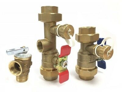 Jacuzzi Tankless Water Heater Isolation Valves Kit With