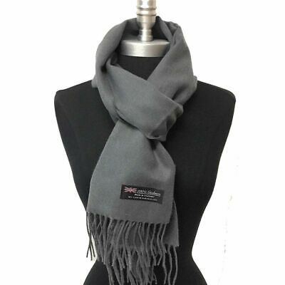 New 100% CASHMERE Scarf SOLID Wine SCOTLAND SUPER SOFT UNISEX Warm
