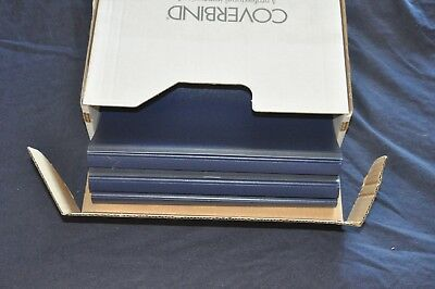 "COVERBIND Thermal Binding Covers 53ct (1/2"" Spine) Navy & Clear 675831 Open Box"