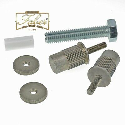 Faber E-sert NA, Bridge Stud/Adapter, Nickel Plated, Aged, (ein Paar) ESERT-NA