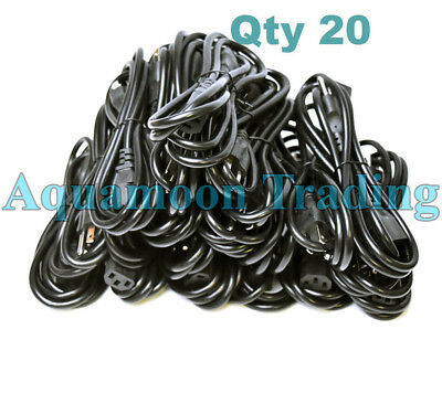 10 Lot BRAND NEW 3-Prong 2 Meter PC Scanner Computer Monitor ATX PSU Power Cords