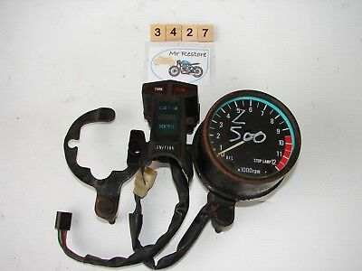 Kawasaki Z500 tachometer with centre console and brackets