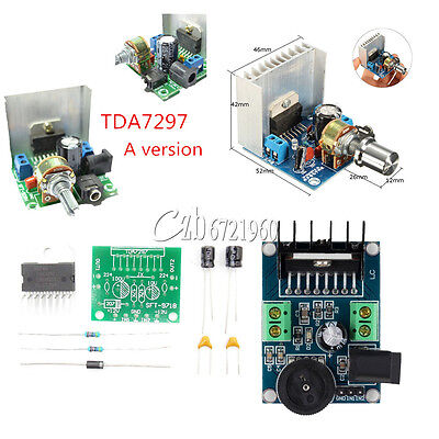 TDA7297 2x15W 2-CH Digital Audio Stereo Amplifier Board Module AC/DC 6-18V 12V