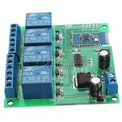 12V 4CH Bluetooth Relay Android Mobile Remote control Switch for Motor LED Light