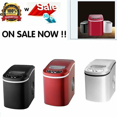 Ice Maker/table Top Ice 15Kg Counter Table Machine Red/black/white Party Home Uk
