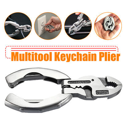 Folding Pocket Tool Multi-functional Keychain Plier Crimper Screwdriver Combo