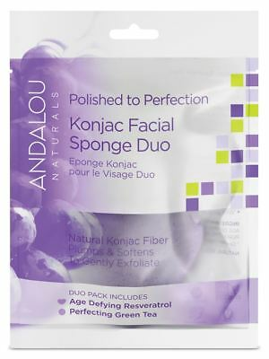 Andalou  Perfection Konjac Facial Sponge Duo