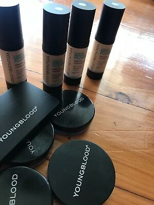 Youngblood loose mineral powder and mineral liquid