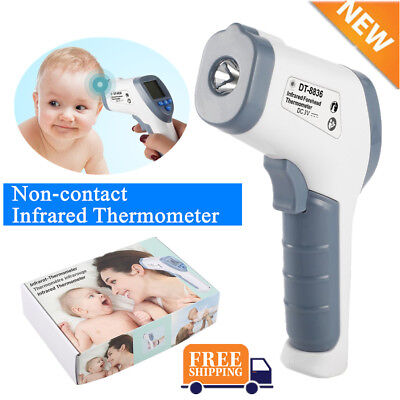 Digital IR Infrared Thermometer Baby Forehead LCD Non-Contact Temperature MG