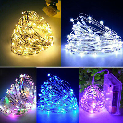 Micro 2-30M LED Fairy Rice Silver Wire String Lights Battery /Mains Powered Xmas