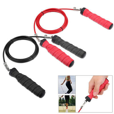Speed Skipping Jump Rope Adjustable Steel Wire Crossfit Exercise Gym Training TP