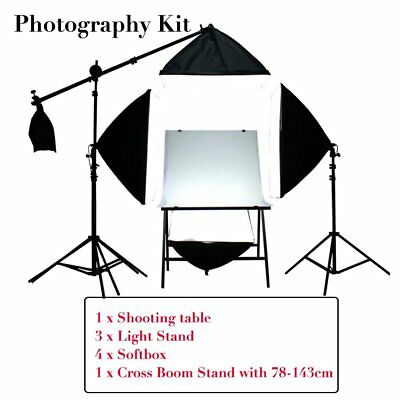 Shooting Table Softbox Light Stand Photography Kit For Camera Portrait&Video HX