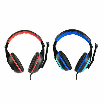 3.5mm Adjustable Gaming Headphones Stereo Noise-canceling Computer Headset AU