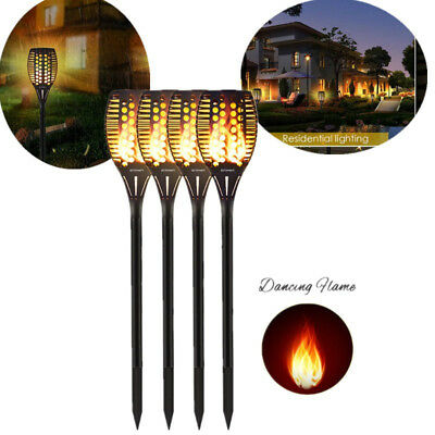 1/2/4pcs Flickering landscape Lamp 96LED Dancing Flame Solar Torch Garden Light