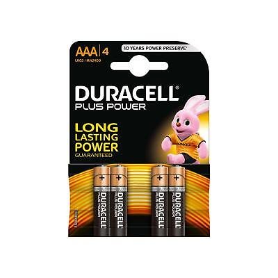 4 Pile Batterie Mini Stilo Aaa Batteria Duracell Plus Power Lunga Durata Lr03 1,