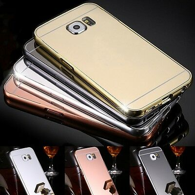 """Aluminium Luxury Bumper Cover Protective Cell Phone Case / Armored Glass Slide """""""