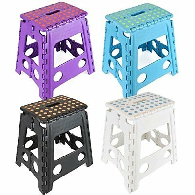 Large Multi Purpose Fold Step Stool Plastic Home Kitchen Foldable Easy Storage