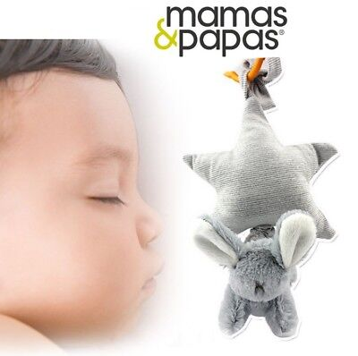 Mamas & Papas Baby Kids Children Tug & Pull Melody Player Soft Plush Toy Doll 0+