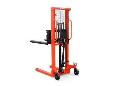 1 Ton x 2.5 Metre Hand Stacker - 1000KG High Lift Fork Pallet Truck Manual