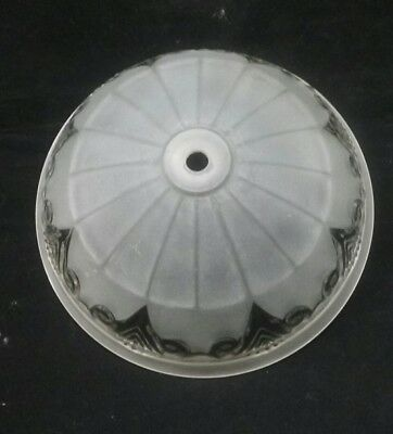 Vintage light shade ceiling fixture fan clear and frosted glass