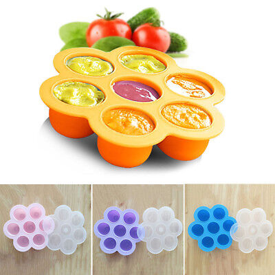 Weaning Baby Food Freezer Tray Infant Feeding Storage Pots Silicone Containers