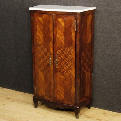 Sideboard inlaid furniture cupboard French cabinet marble antique style 900 XX